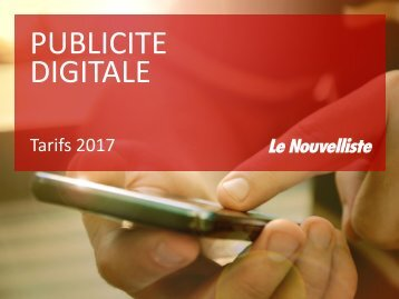 Tarifs digitaux 2017