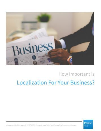 How Important Is Localization For Your Business?