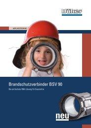 Broschüre Brandschutzverbinder BSV 90 - Düker GmbH & Co KGaA