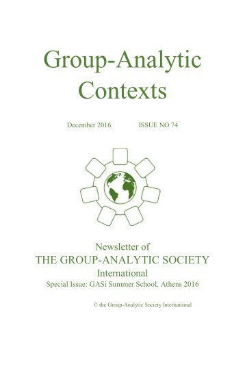 Group Analytic Contexts, Issue 74, December 2016