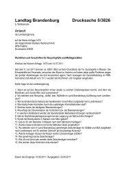 Landtag Brandenburg Drucksache 5/3826 - Brandenburg.de