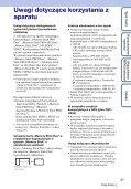 Sony DSC-HX5 - DSC-HX5 Istruzioni per l'uso Polacco - Page 3