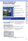 Sony DSC-HX5 - DSC-HX5 Istruzioni per l'uso Svedese - Page 2
