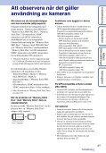 Sony DSC-HX5 - DSC-HX5 Istruzioni per l'uso Svedese - Page 3