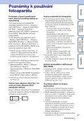 Sony DSC-HX5 - DSC-HX5 Istruzioni per l'uso Ceco - Page 3