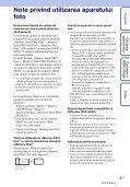 Sony DSC-HX5 - DSC-HX5 Istruzioni per l'uso Rumeno - Page 3