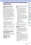Sony DSC-HX5 - DSC-HX5 Istruzioni per l'uso Turco - Page 3