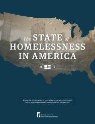 STATE HOMELESSNESS in america