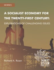 A SOCIALIST ECONOMY FOR THE TWENTY-FIRST CENTURY