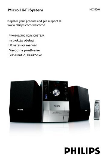 Philips Microchaîne hi-fi - Mode d'emploi - SLK