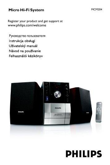 Philips Microchaîne hi-fi - Mode d'emploi - CES