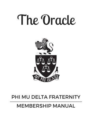 The Oracle: Phi Mu Delta's Membership Manual