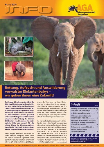 Rettung, Aufzucht und Auswilderung verwaister Elefantenbabys - wir geben ihnen eine Zukunft!
