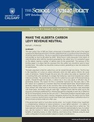 MAKE THE ALBERTA CARBON LEVY REVENUE NEUTRAL