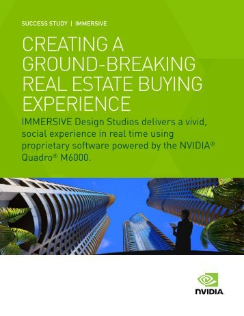 CREATING A GROUND-BREAKING REAL ESTATE BUYING EXPERIENCE