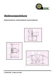 Bedienungsanleitung - Ventilatoren von KONZ