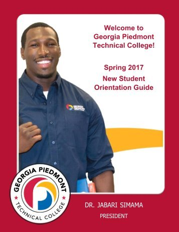 sPRING 2017 Orientation Booklet - Final