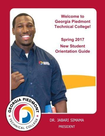 sPRING 2017 Orientation Booklet - Final