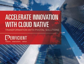 ACCELERATE INNOVATION WITH CLOUD NATIVE