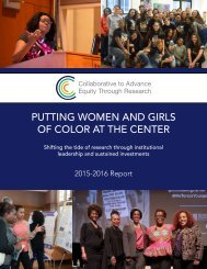 PUTTING WOMEN AND GIRLS OF COLOR AT THE CENTER
