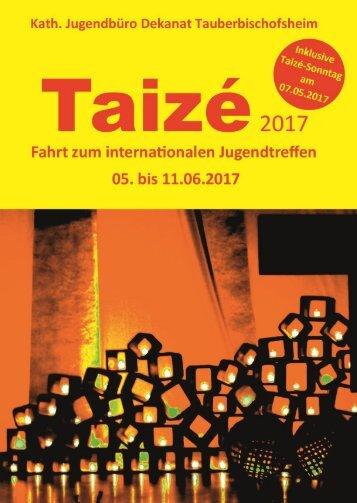 Taizé 2017 Flyer