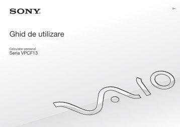 Sony VPCF13E1R - VPCF13E1R Istruzioni per l'uso Rumeno