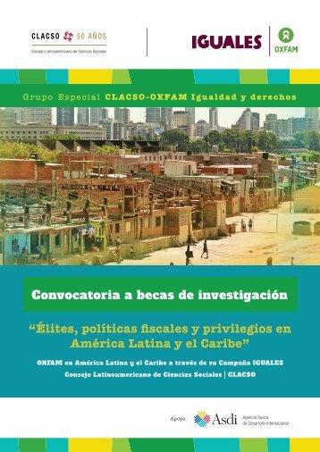 """""""Élites políticas fiscales y privilegios en América Latina y el Caribe"""""""
