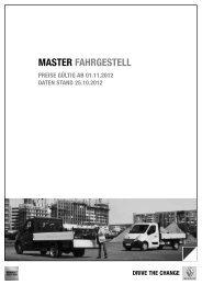 PDF Preisliste Master Fahrgestell - Renault