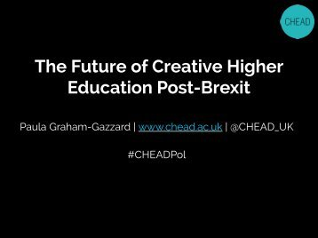 The Future of Creative Higher Education Post-Brexit