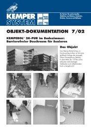 OBJEKT-DOKUMENTATION 7/02 - KEMPER SYSTEM