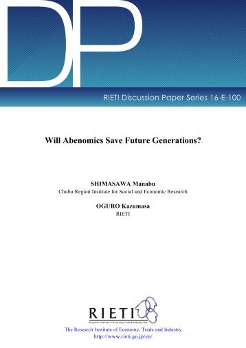 Will Abenomics Save Future Generations?