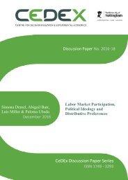 CeDEx Discussion Paper Series