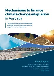 Mechanisms to finance climate change adaptation in Australia