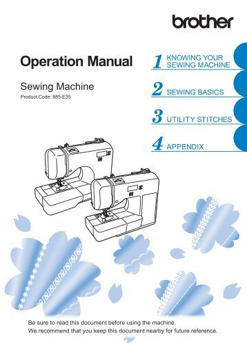 Brother CS7205 - Operation Manual