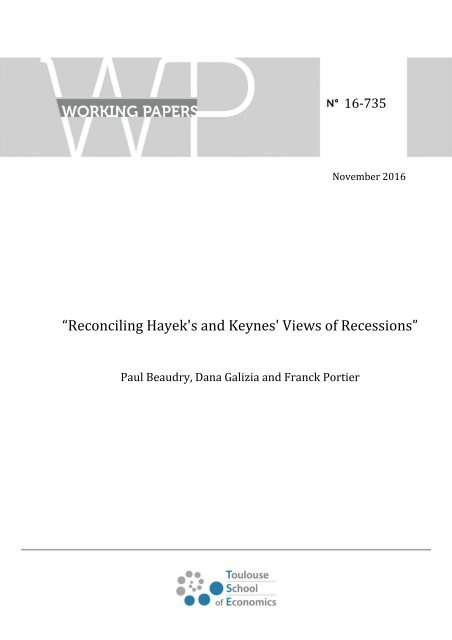 """Reconciling Hayek's and Keynes' Views of Recessions"""