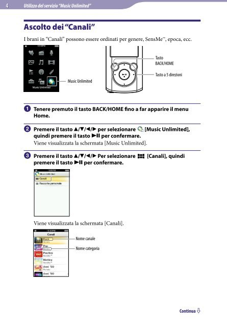 Sony NWZ-E465 - NWZ-E465 Istruzioni per l'uso