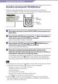 Sony NWZ-E465 - NWZ-E465 Istruzioni per l'uso Spagnolo - Page 7