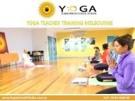 Yoga Teacher Training Melbourne