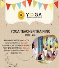 Yoga Teacher Training Program Melbourne Australia (Part Time)