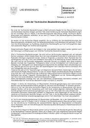 Liste der Technischen Baubestimmungen - Ministerium für ...