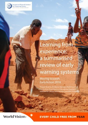 Learning from experience a summarised review of early warning systems