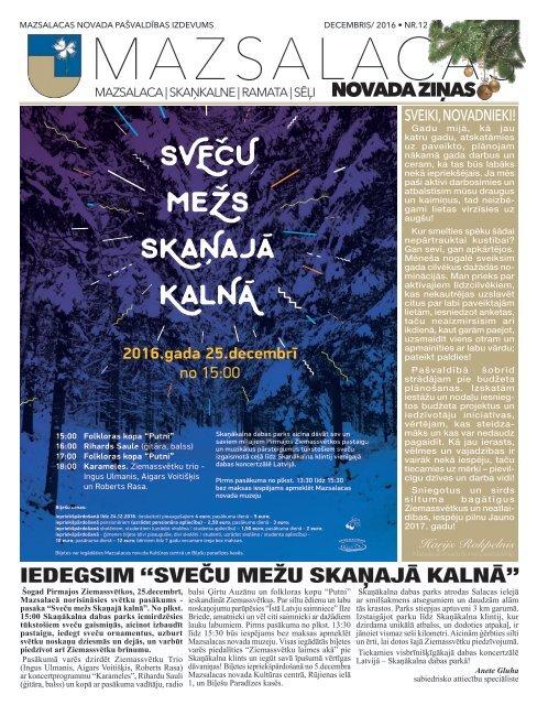 Mazsalacas novada ziņas Nr.12 (decembris)