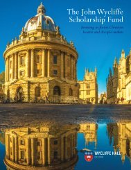Wycliffe Bursary Fund Draft 6