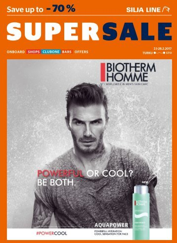 Turku-Stockholm Jan-Feb 2017 Silja Line Super Sale Shopping catalogue – light version