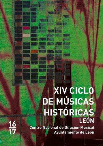 XIV CICLO DE MÚSICAS HISTÓRICAS