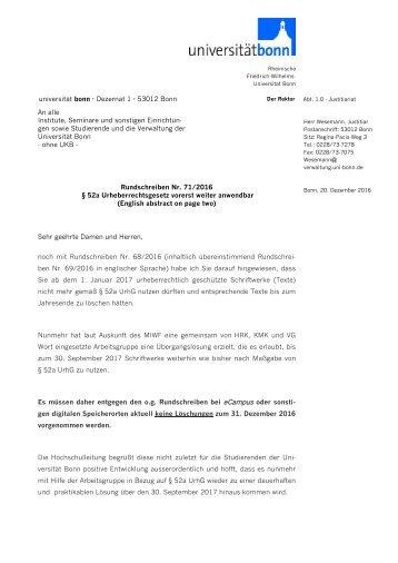 Information zum Urheberrechtsgesetz