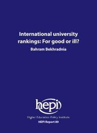 International university rankings For good or ill?