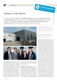 Zuhause in einer Nische - Gneuss Kunststofftechnik GmbH