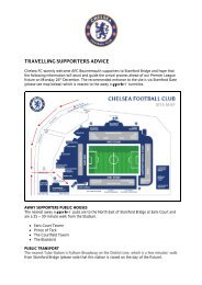 Travelling Supporters Advice