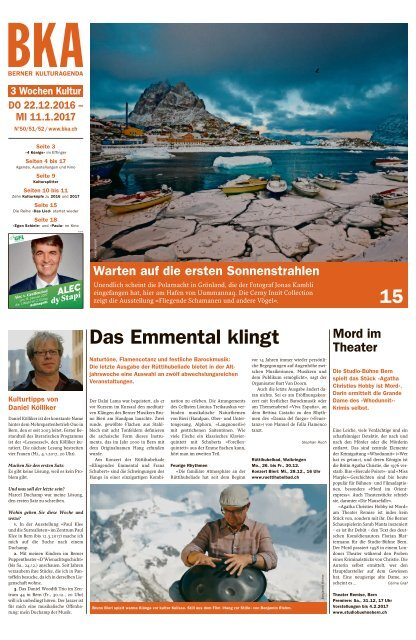 Berner Kulturagenda 2016 N° 50-52